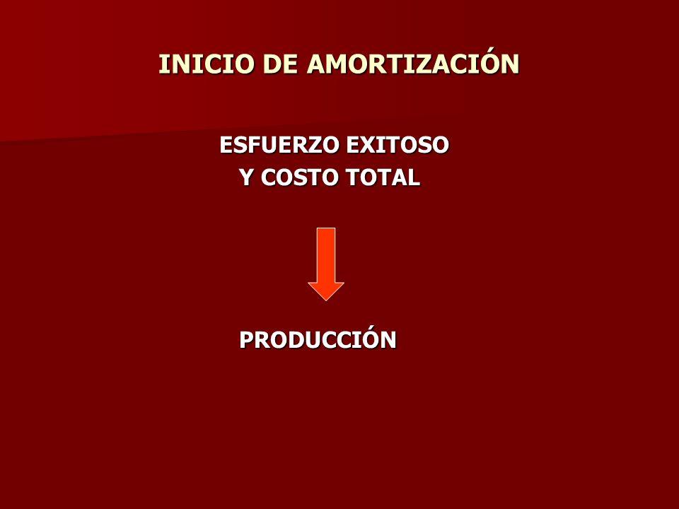 INICIO DE AMORTIZACIÓN