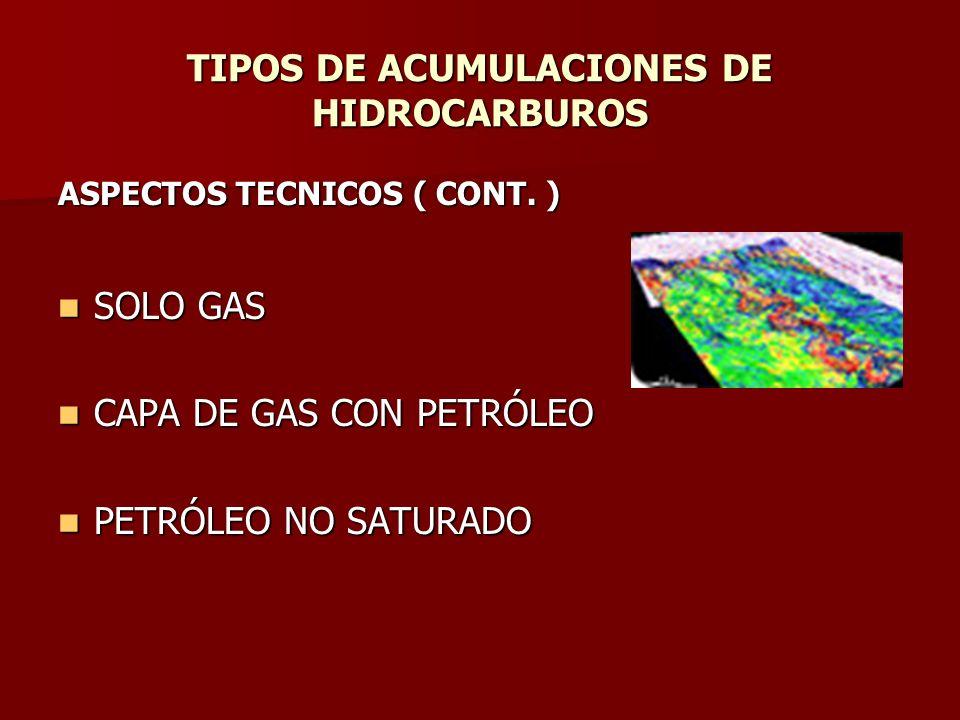 TIPOS DE ACUMULACIONES DE HIDROCARBUROS