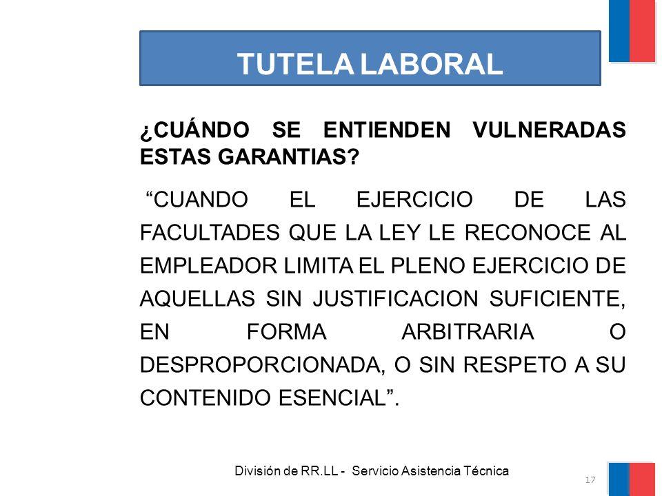 División de RR.LL - Servicio Asistencia Técnica