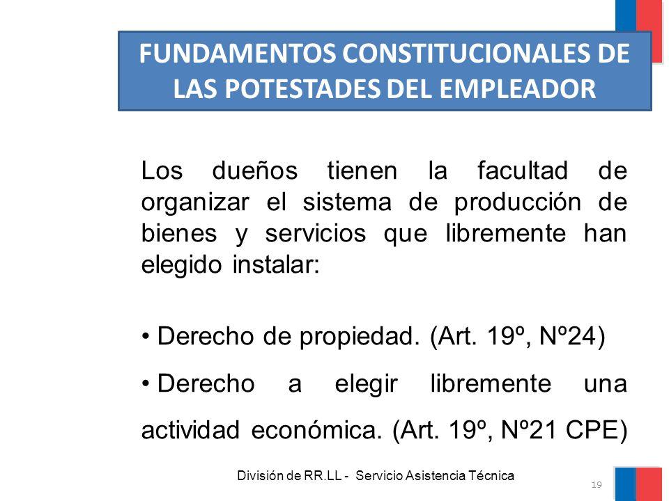 FUNDAMENTOS CONSTITUCIONALES DE LAS POTESTADES DEL EMPLEADOR