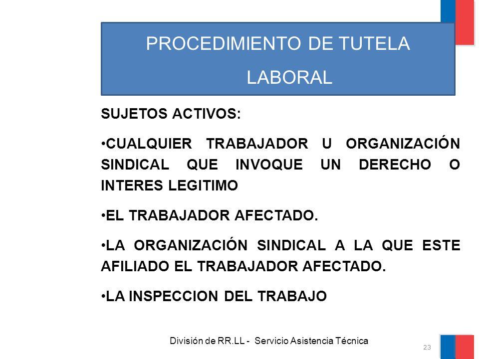 PROCEDIMIENTO DE TUTELA LABORAL