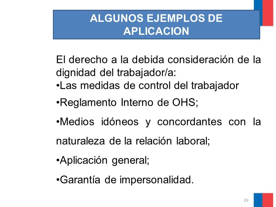 ALGUNOS EJEMPLOS DE APLICACION