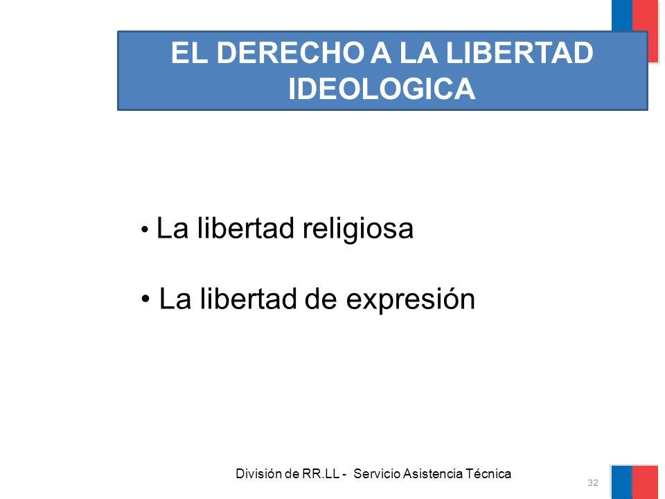 EL DERECHO A LA LIBERTAD IDEOLOGICA