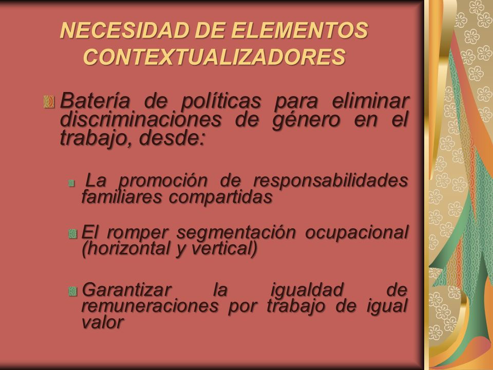 NECESIDAD DE ELEMENTOS CONTEXTUALIZADORES