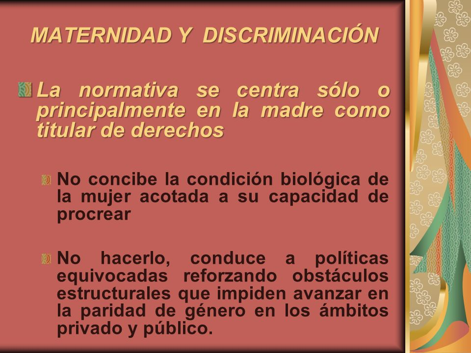 MATERNIDAD Y DISCRIMINACIÓN