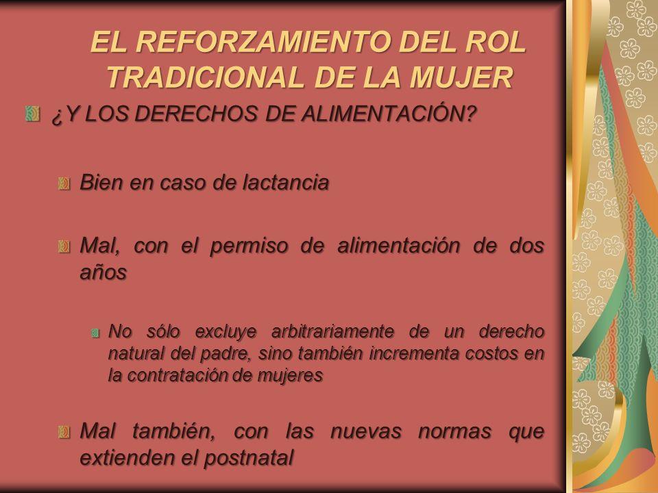 EL REFORZAMIENTO DEL ROL TRADICIONAL DE LA MUJER