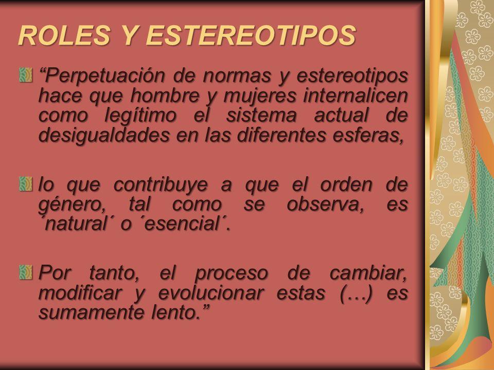 ROLES Y ESTEREOTIPOS