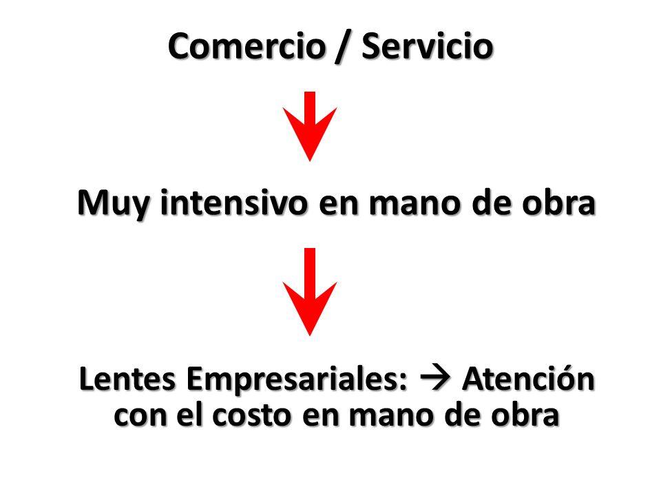 Comercio / Servicio Muy intensivo en mano de obra