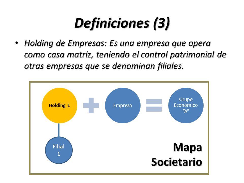 Definiciones (3) Mapa Societario