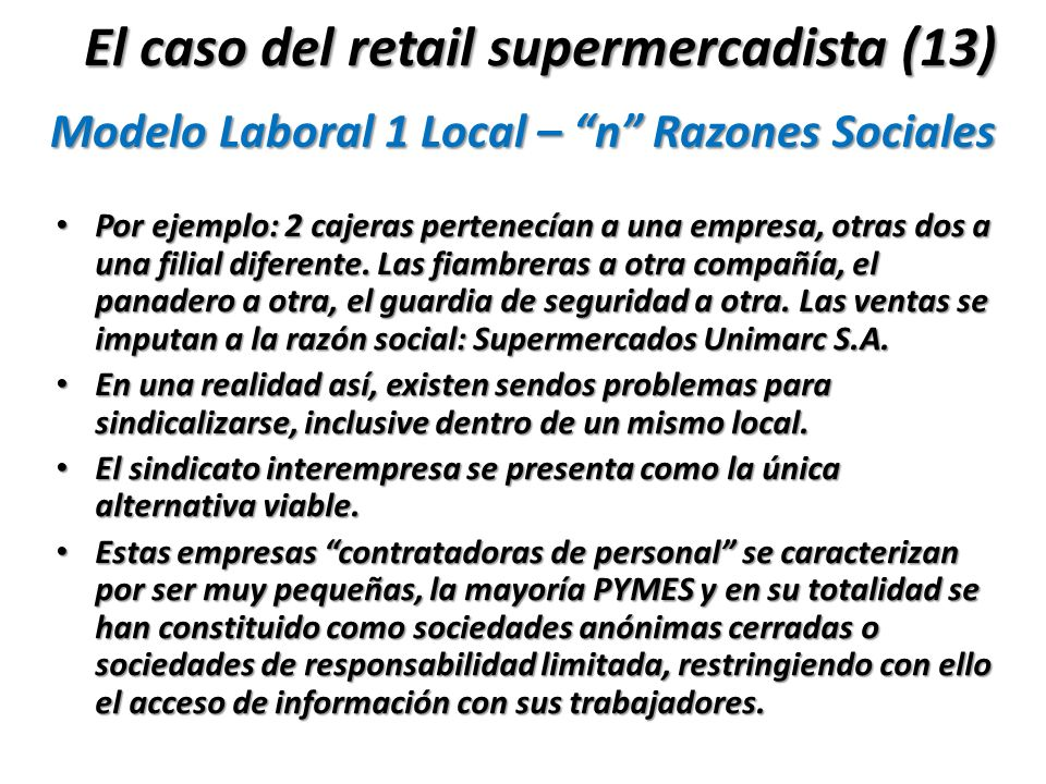 Modelo Laboral 1 Local – n Razones Sociales