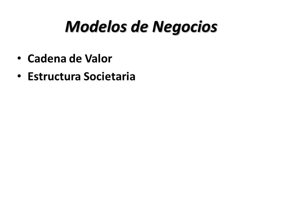 Modelos de Negocios Cadena de Valor Estructura Societaria