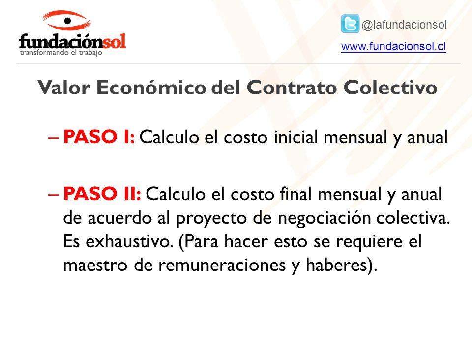 Valor Económico del Contrato Colectivo