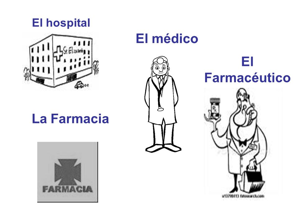 El médico El Farmacéutico La Farmacia