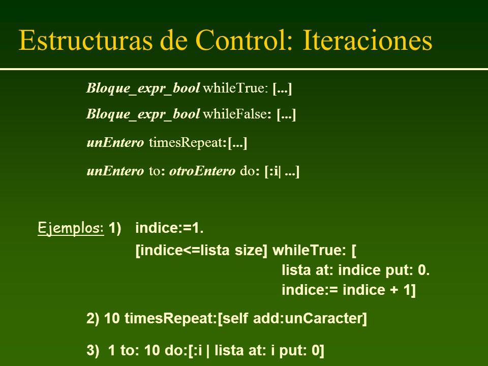 Estructuras de Control: Iteraciones