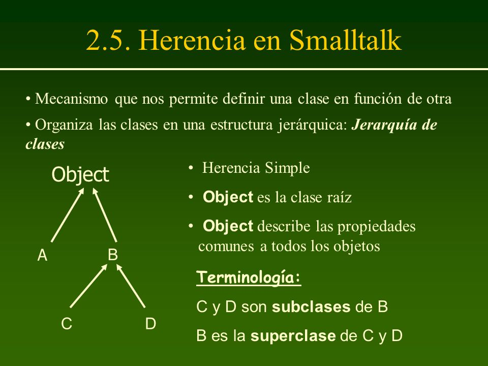2.5. Herencia en Smalltalk Object