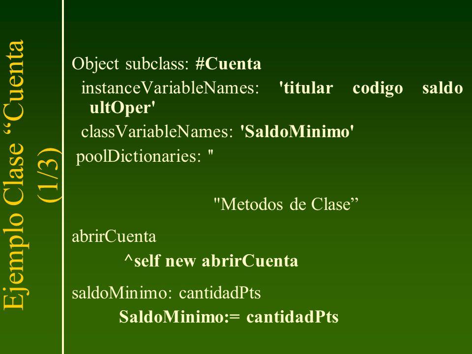 Ejemplo Clase Cuenta (1/3)