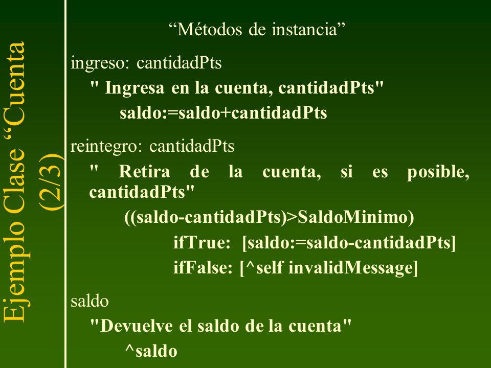Ejemplo Clase Cuenta (2/3)