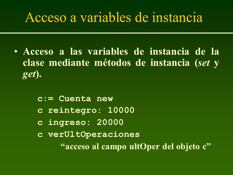 Acceso a variables de instancia