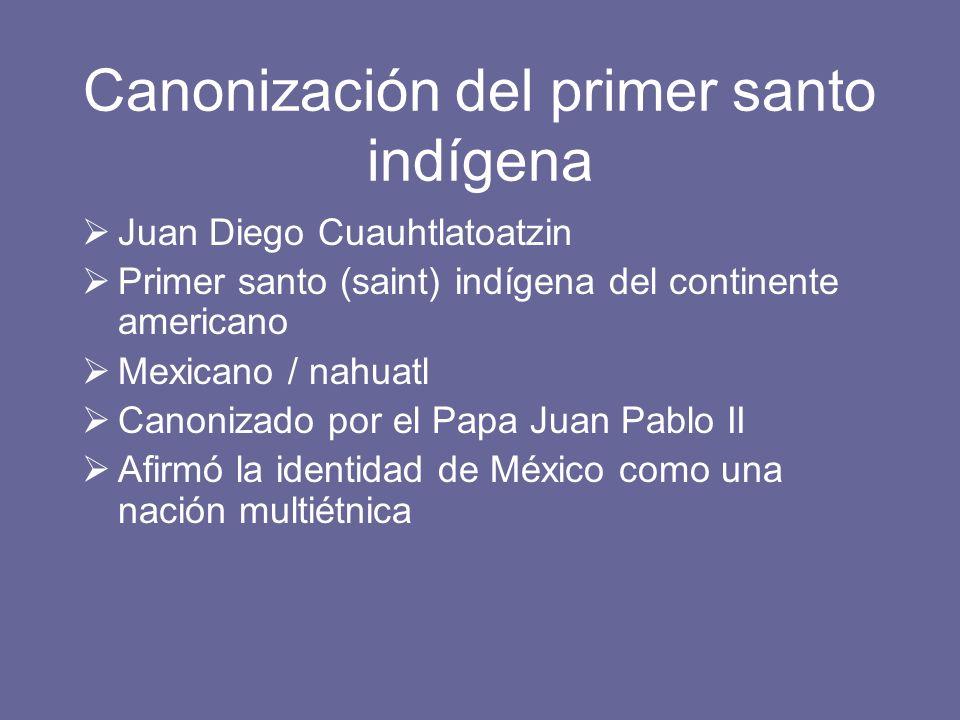 Canonización del primer santo indígena
