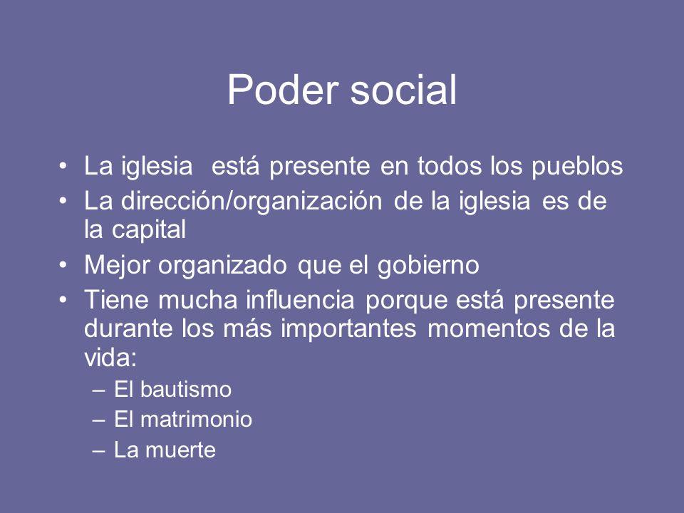 Poder social La iglesia está presente en todos los pueblos