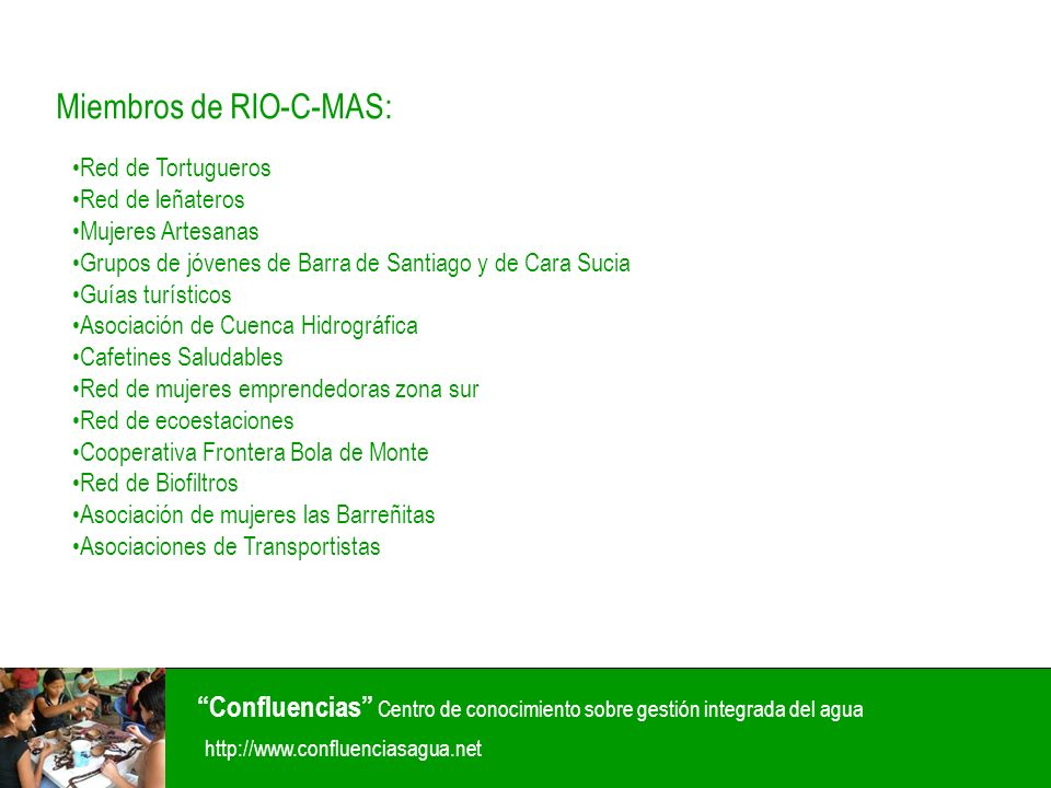 Miembros de RIO-C-MAS: