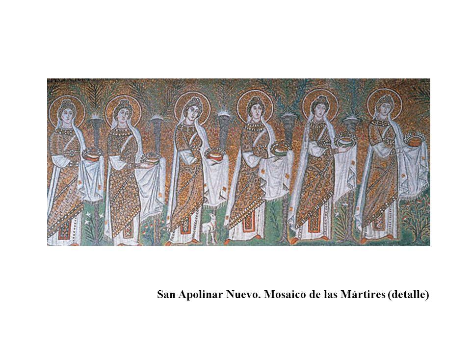 San Apolinar Nuevo. Mosaico de las Mártires (detalle)