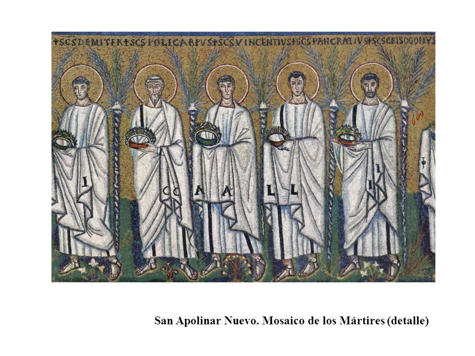 San Apolinar Nuevo. Mosaico de los Mártires (detalle)