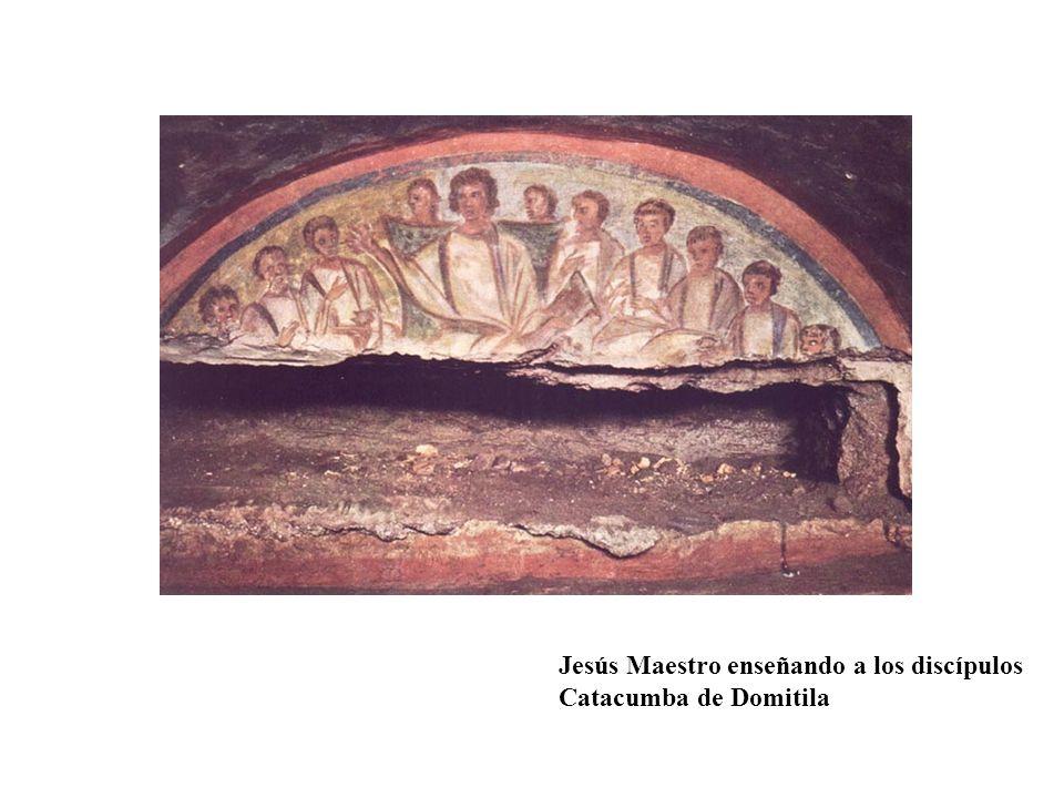 Jesús Maestro enseñando a los discípulos