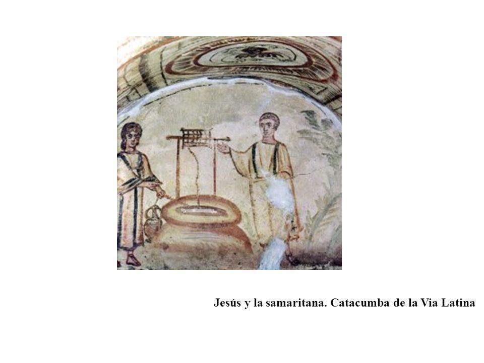 Jesús y la samaritana. Catacumba de la Via Latina