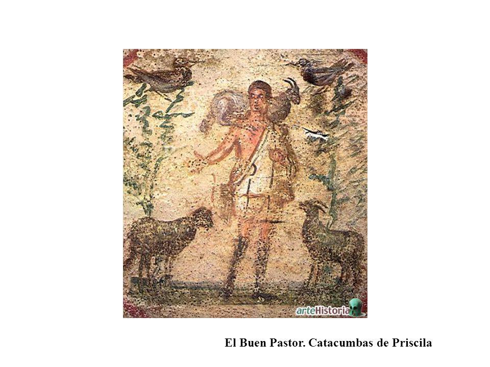 El Buen Pastor. Catacumbas de Priscila
