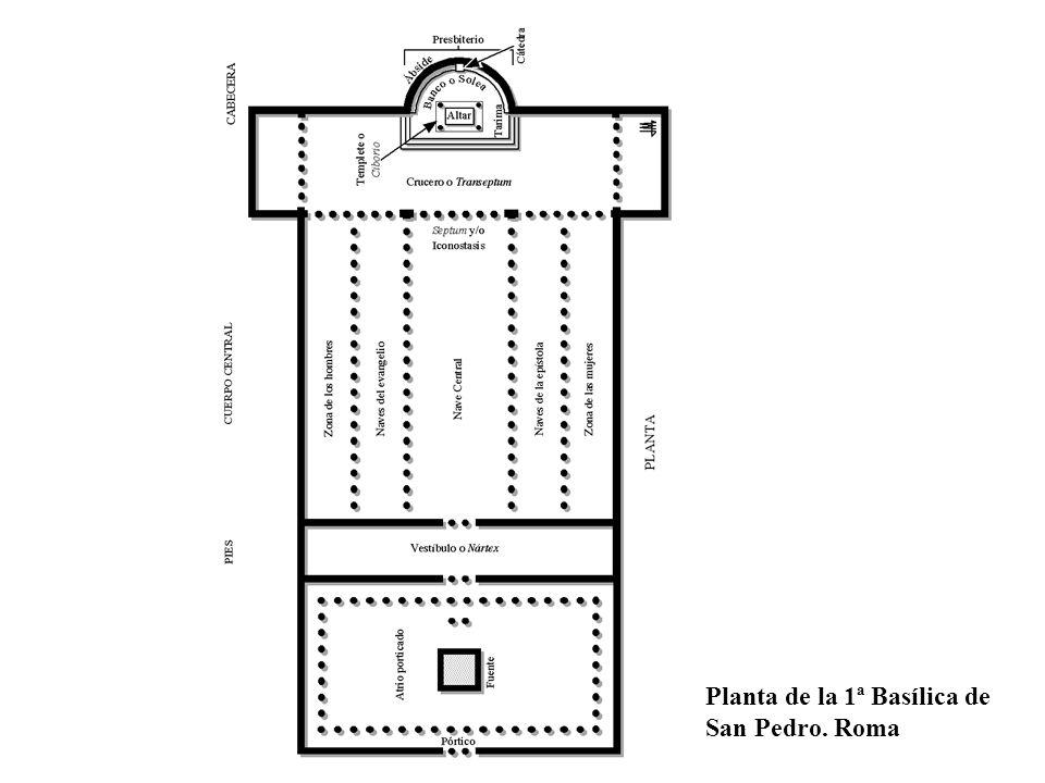 Planta de la 1ª Basílica de