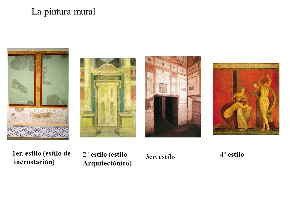 La pintura mural 1er. estilo (estilo de incrustación)