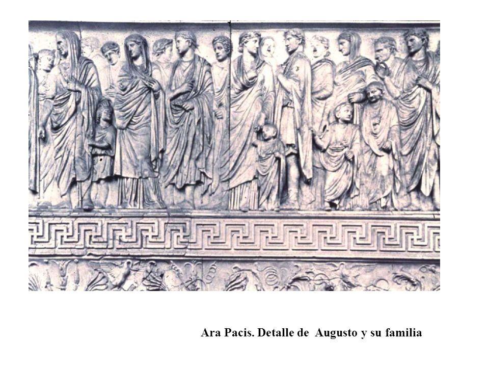 Ara Pacis. Detalle de Augusto y su familia