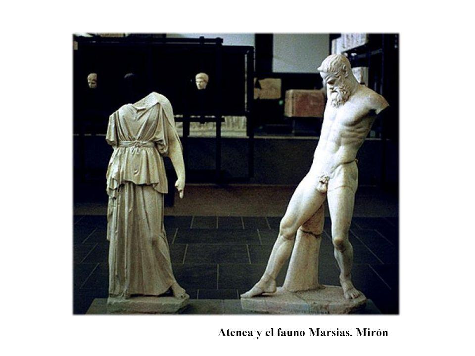 Atenea y el fauno Marsias. Mirón