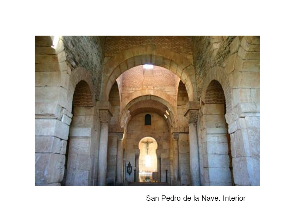 San Pedro de la Nave. Interior
