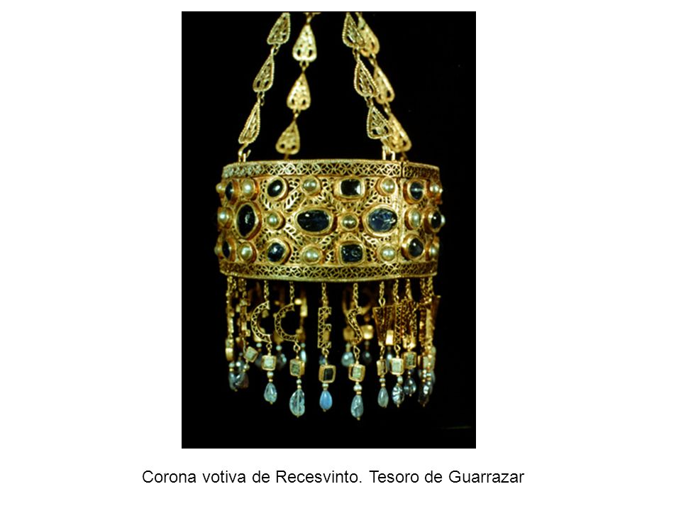 Corona votiva de Recesvinto. Tesoro de Guarrazar