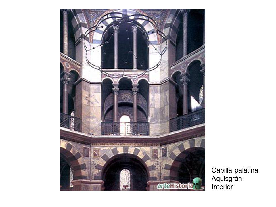 Capilla palatina Aquisgrán Interior