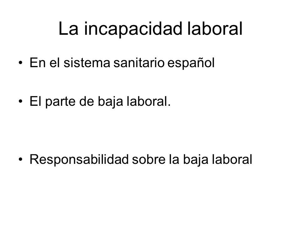 La incapacidad laboral