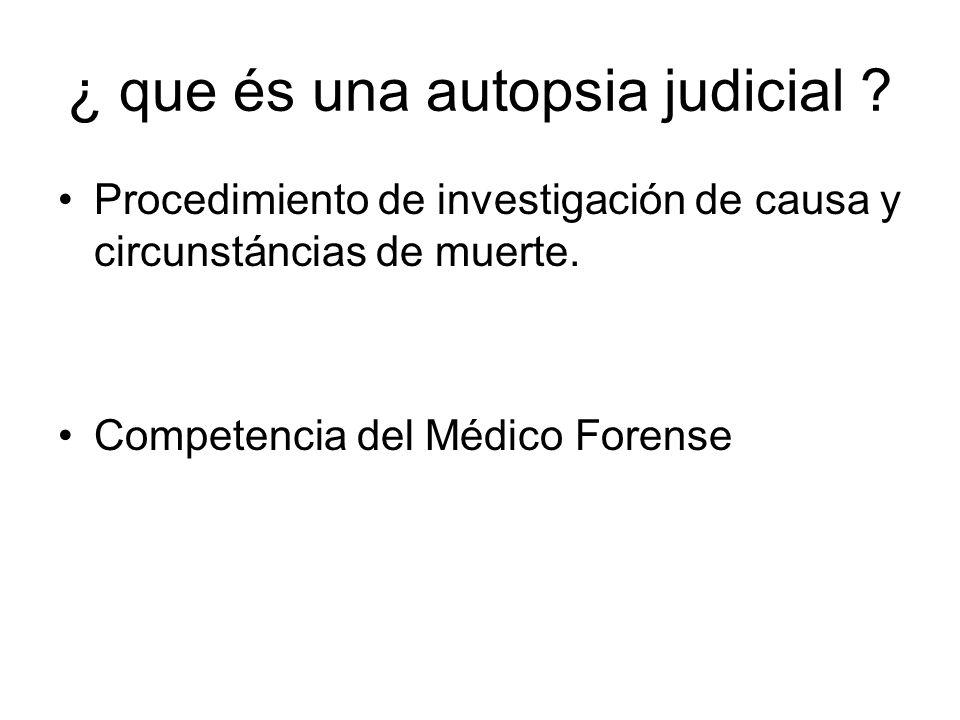 ¿ que és una autopsia judicial