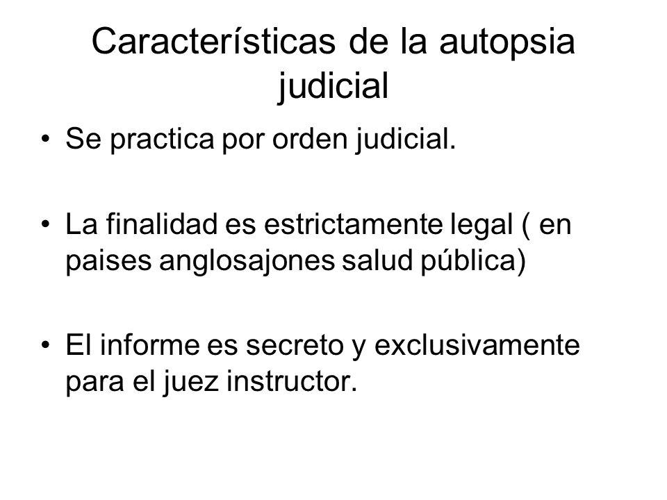 Características de la autopsia judicial