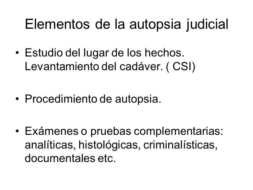 Elementos de la autopsia judicial