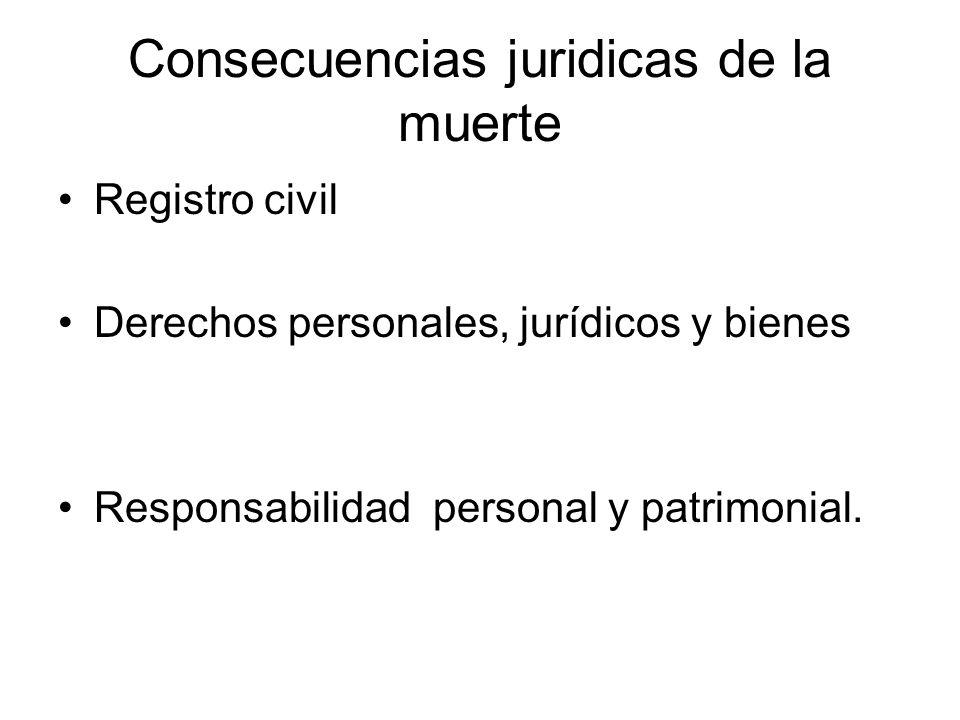 Consecuencias juridicas de la muerte