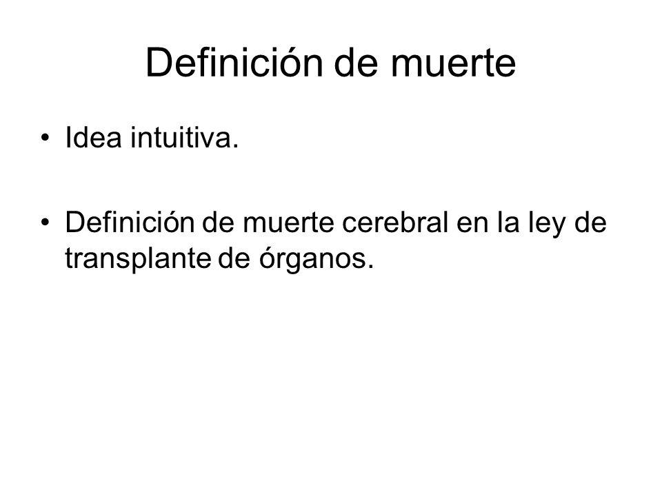 Definición de muerte Idea intuitiva.