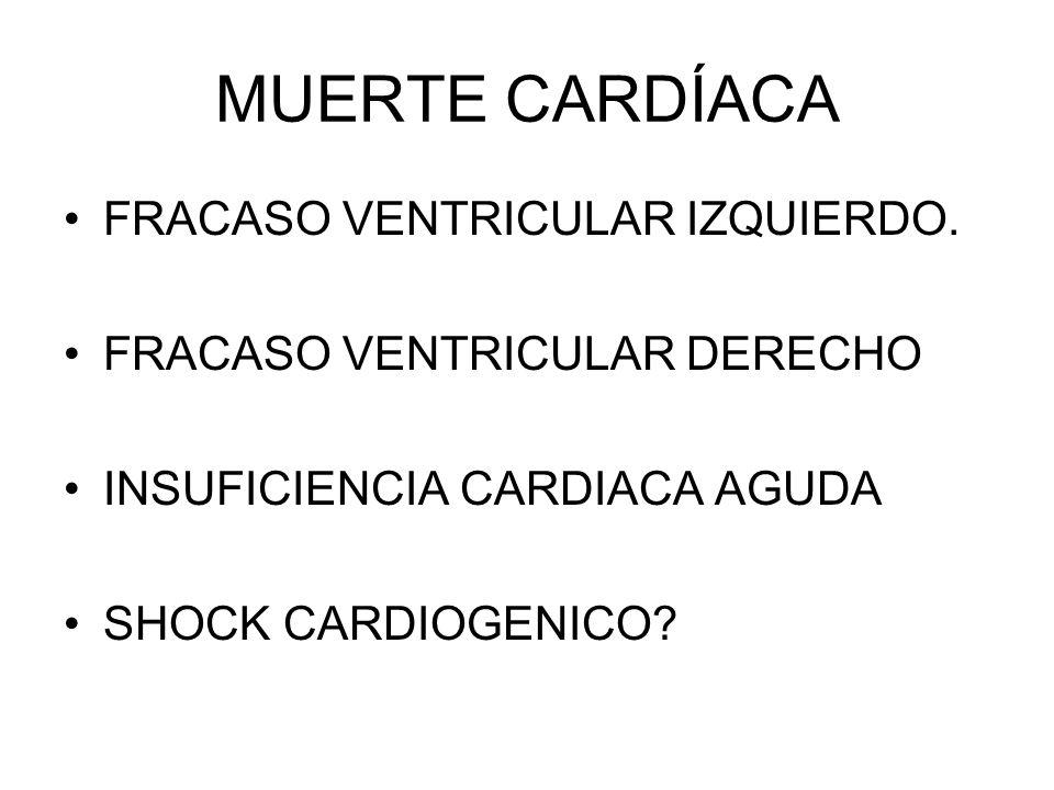 MUERTE CARDÍACA FRACASO VENTRICULAR IZQUIERDO.