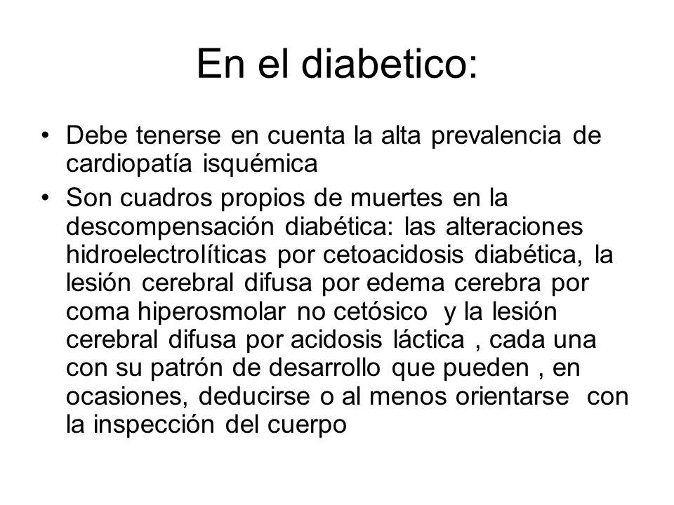 En el diabetico: Debe tenerse en cuenta la alta prevalencia de cardiopatía isquémica.