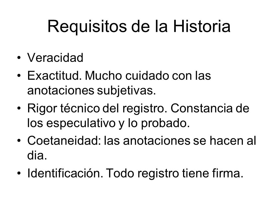 Requisitos de la Historia