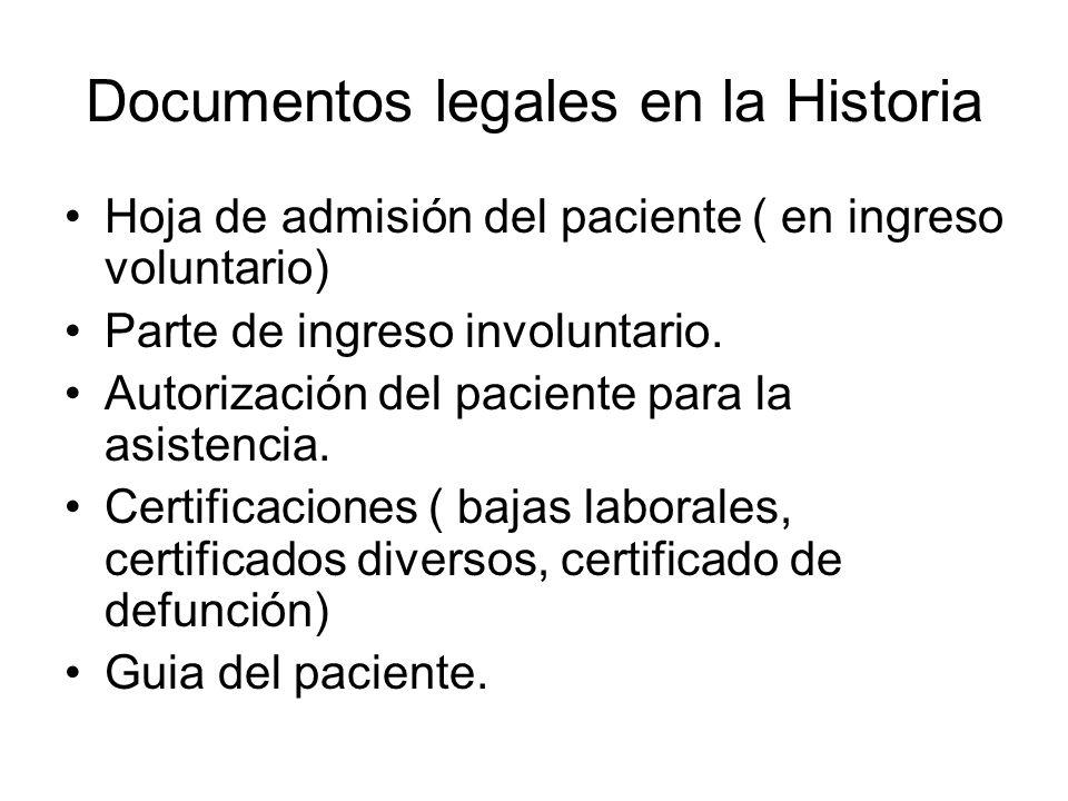 Documentos legales en la Historia