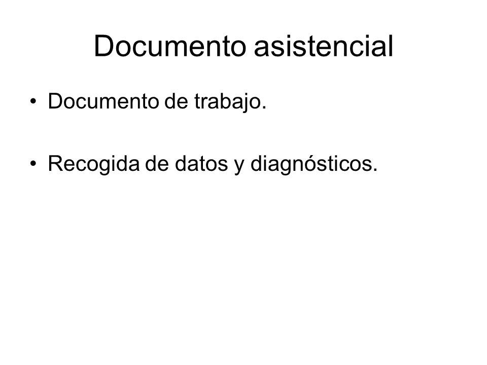 Documento asistencial