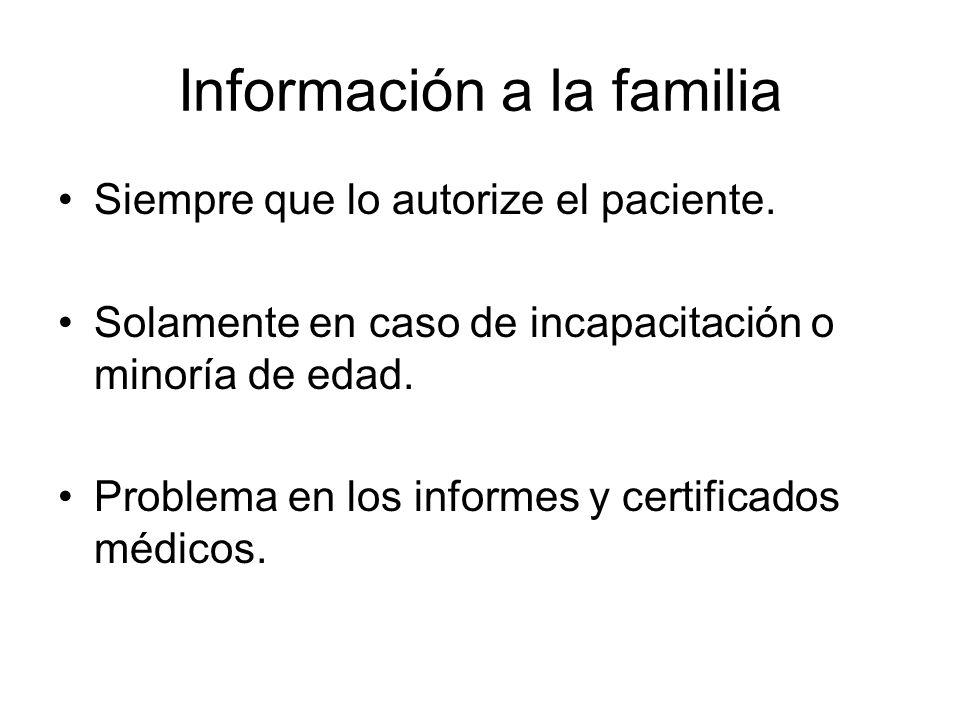 Información a la familia