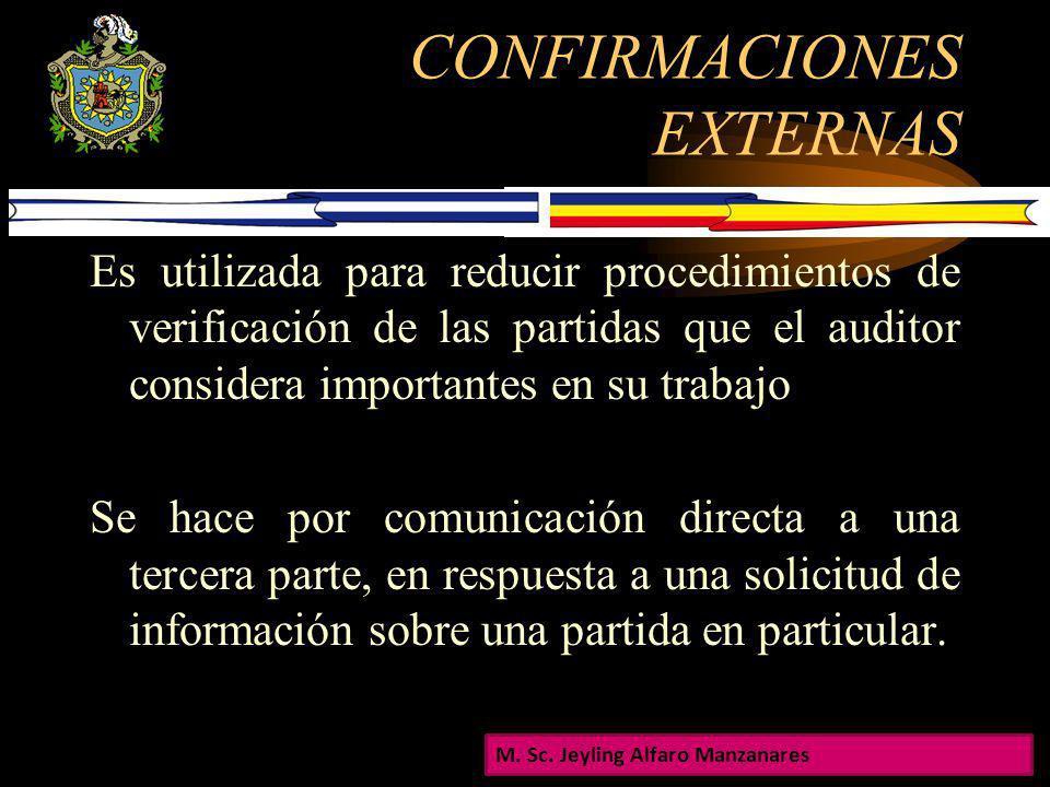 CONFIRMACIONES EXTERNAS